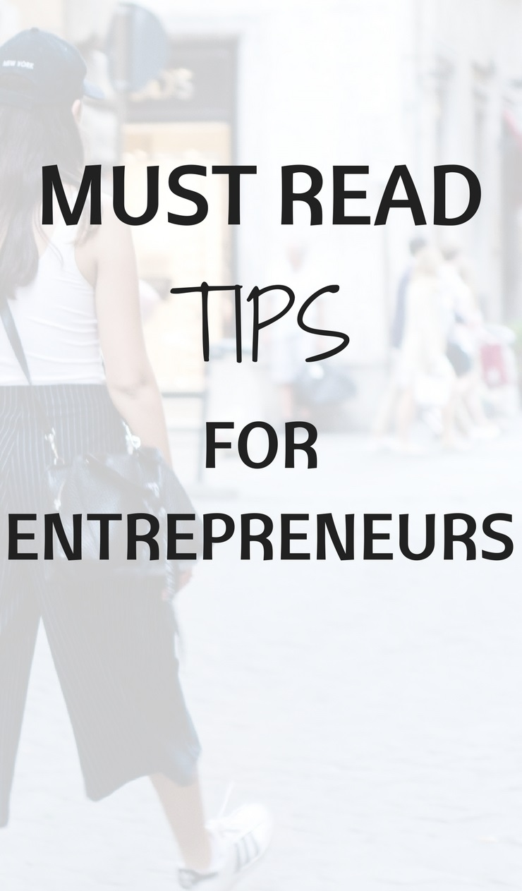 Must read tips for starting entrepreneurs - THE ROAD